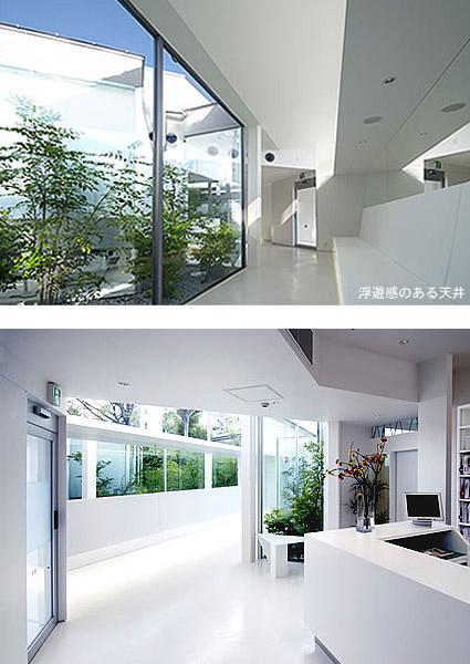 大阪の建築家による病院医院クリニックの設計実例|白いミニマルな造形による外部空間と密接なデザイン