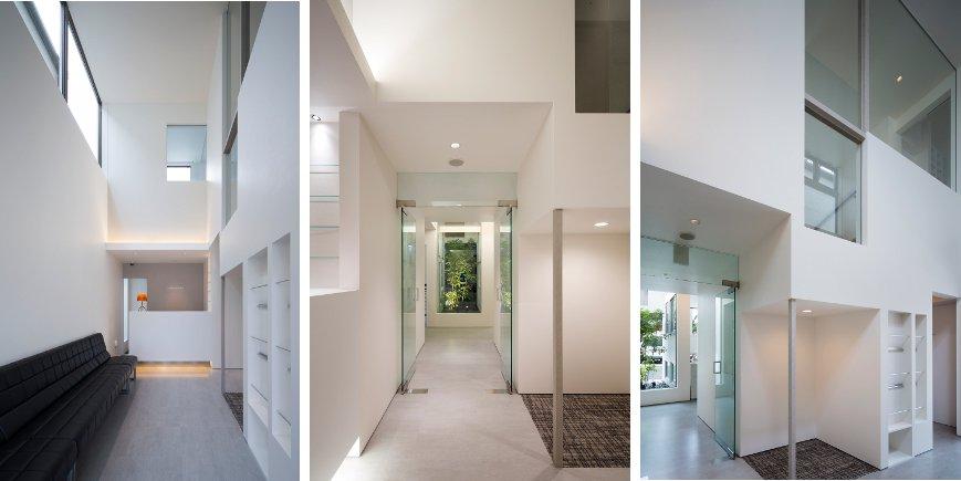 大阪の建築家による歯科医院クリニックの設計の実例|シンプルで清潔感のある待合室1