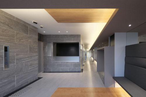 京都の眼科の受付は病院の平岡建築デザインテナントビル診
